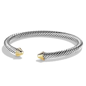David Yurman Cable Classics Bracelet with Sterling Silver & 14K Yellow Gold